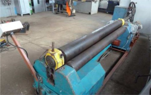 Cylindrical rolling bending machine XZM 2000/8T