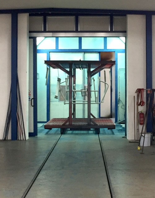 Manual powder coating cabine